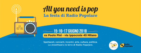 All you need is pop – La festa di Radio Popolare