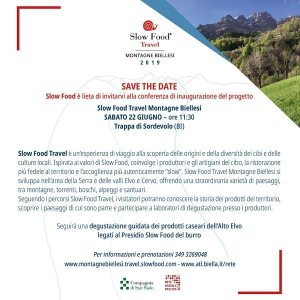 "Conferenza di inaugurazione del progetto ""Slow Food Travel montagne biellesi"""
